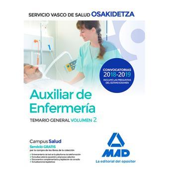 Auxiliar de Enfermería de Osakidetza - Temario general volumen 2