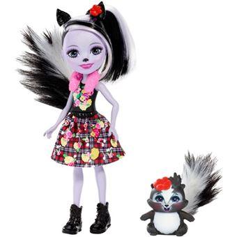 Muñeca Mattel FXM72 - Enchantimals Sage Skunk y Caper