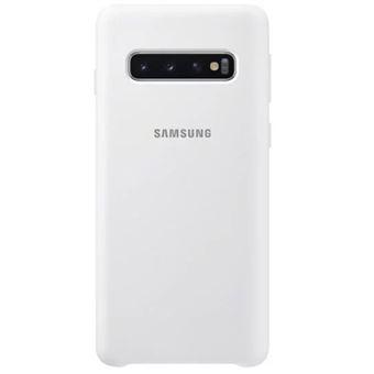 Funda de silicona Samsung para Galaxy S10 Blanco