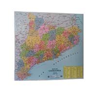 Mapa de Catalunya comarques mini plastificat