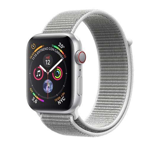 Apple Watch Series 4 GPS + Cellular 44 mm aluminio en plata y correa Loop deportiva nácar