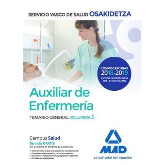 Auxiliar de Enfermería de Osakidetza - Temario general volumen 3