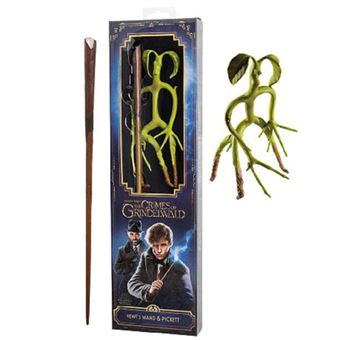 Varita Harry Potter Animales Fantásticos Scamander + Bowtruckle