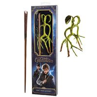 Réplica Harry Potter Animales Fantásticos - Varita Scamander + Bowtruckle