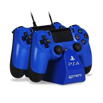 Base de carga doble para mandos + Cable Azul PS4