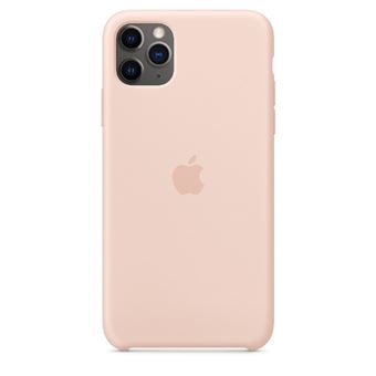 Funda de silicona Apple Rosa arena para iPhone 11 Pro Max