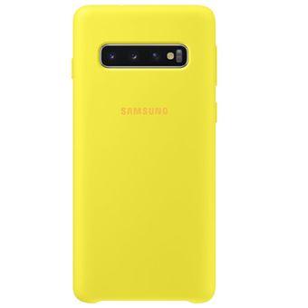 Funda de silicona Samsung para Galaxy S10 Amarillo