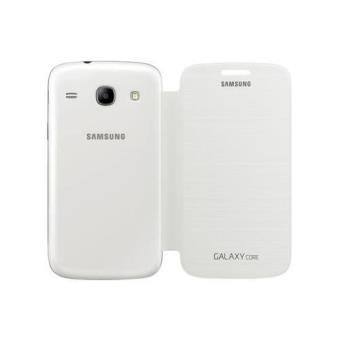 Samsung Flip cover Funda Galaxy Core blanca