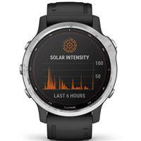 Pulsómetro Garmin Fénix 6S Solar Plata/Negro