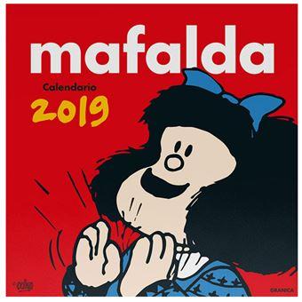 Calendario de pared Granica Mafalda 2019 rojo - Mafalda -5