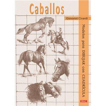 Caballos - Modelos para dibujar con cuadrícula