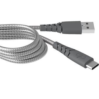 Cable de carga Bigben USB-C Gris 2 m