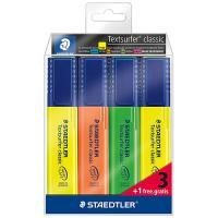 Blíster de 4 marcadores Staedtler flúor