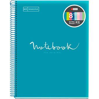 Cuaderno A4 microperforado Miquelrius Emotions cuadrícula 5x5 mm azul Formentera