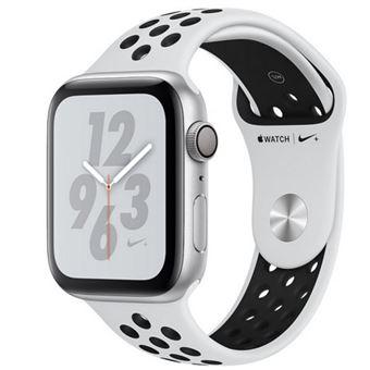 Apple Watch S4 Nike+ GPS 40 mm Caja de aluminio en plata y correa Nike Sport Platino puro/Negro