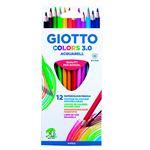 12 lápices Giotto Colors 3.0 Aquarell
