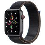 Apple Watch SE 44 mm LTE Caja de aluminio en gris espacial y correa deportiva Loop Charcoal