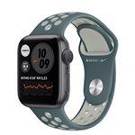 Correa deportiva Nike Sport Plata/Verde para Apple Watch 40mm