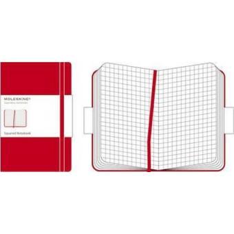 Cuaderno Moleskines Classic Bolsillo Cuadrícula Rojo