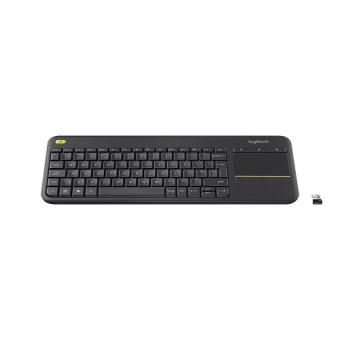 Teclado inalámbrico Logitech K400 Plus TouchPad Negro