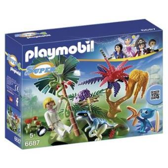 Playmobil Super 4 Isla perdida con alien y raptor