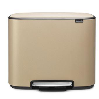 Cubo de basura Brabantia Bo Pedal  36 L Oro mineral