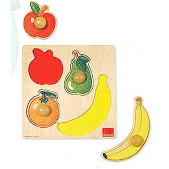 Puzzle encajable de madera Frutas 4 piezas