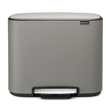 Cubo de basura Brabantia Bo Pedal  36 L Gris mineral