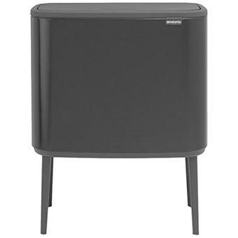 Cubo de basura Brabantia BO Touch Bin 11 + 23 L Negro