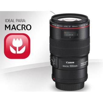 Objetivo Canon 100 mm f2.8 L IS USM Macro