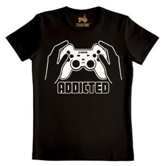 Camiseta Addicted Negra Talla M