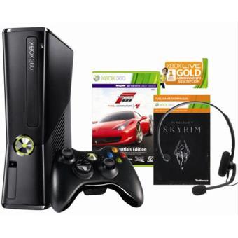 Xbox 360 250 GB + The Elder Scrolls: Skyrim + Forza Motorsport 4 + 1 Mes Xbox Live