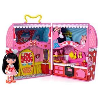 Venta de liquidación gran venta bien baratas Famosa Casa-maletín I Love Minnie con muñeca - -5% en libros ...