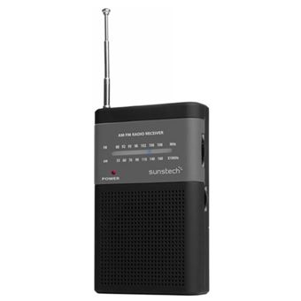 Radio Portátil Sunstech RPS42 AM/FM Negro