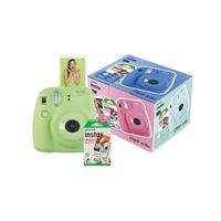 Cámara instantánea Fujifilm Mini 9 Verde + Papel Fujifilm Instax Mini 10 ud.Kit