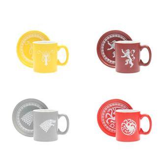 Set de 4 tazas Juego de tronos - Emblemas y lemas de las Casas