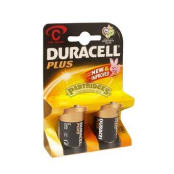 Duracell Pila Alcalina Plus R14x2