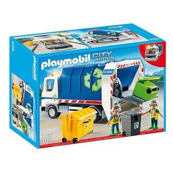 Playmobil City Action Camión de Reciclaje con Luces