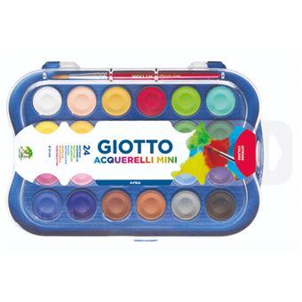 Estuche acuarelas mini Giotto 24 colores y pincel