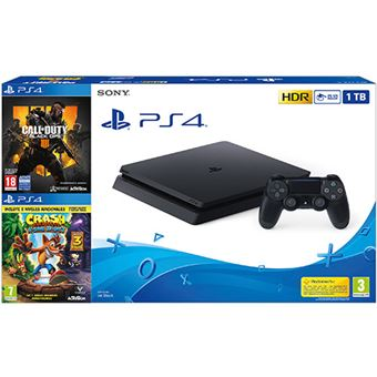Consola PS4 1TB + Call Of Duty: Black OPS 4 + Crash Bandicoot N. Sane Trilogy - Exclusiva Fnac