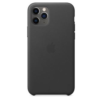 Funda de piel Apple Negro para iPhone 11 Pro Max