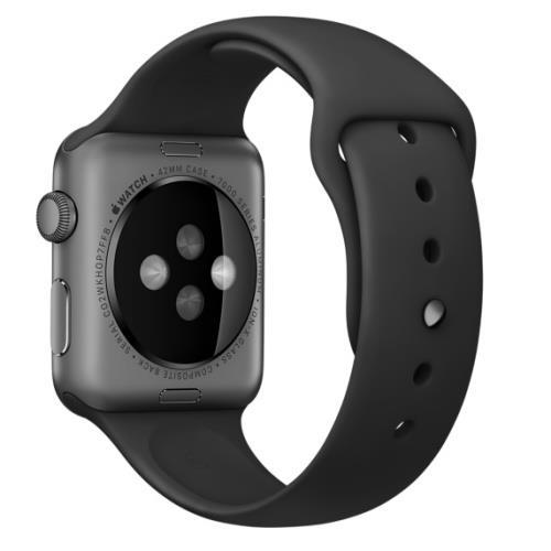 Correa Apple Watch Deportiva Negro (42 mm) (Producto reacondicionado)