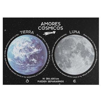 Set de 2 notas adhesivas Amores cósmicos Tierra y Luna
