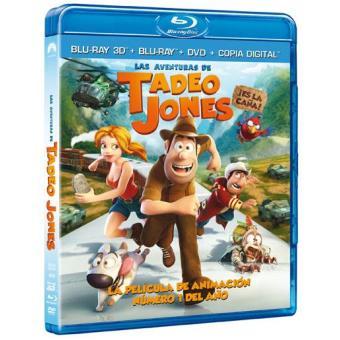 Las aventuras de Tadeo Jones - Blu-Ray 3D + 2D + DVD