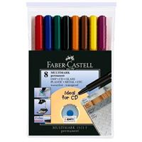 Set 8 marcadores permanentes Faber-Castell Multimark 1513F punta fina