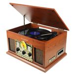 Tocadiscos Bluetooth Sunstech PXR5CD Madera