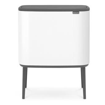 Cubo de basura Brabantia BO Touch Bin 3 x 11 L Blanco