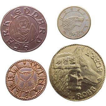 Réplica Juego de tronos - Set de 4 monedas de la Casa Stark