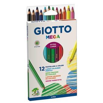 Set Giotto Mega 12 lápices de colores
