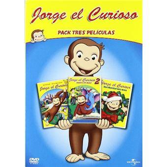 Pack tres películas Jorge el curioso - DVD